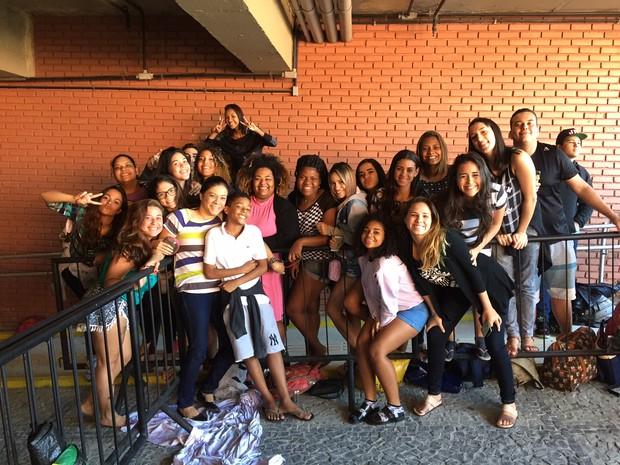 Fãs de Justin Bieber acampam para comprar ingresso de show (Foto: Lucinei Acosta/EGO)