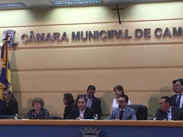 Prefeito participa de sessão em Campo Grande (Foto: Gabriela Pavão / G1 MS)