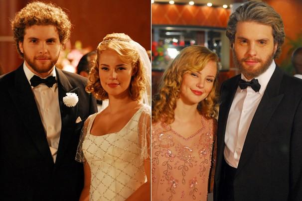 Marcos e Sonia finalmente se casam e 25 anos mais velhos; você confere tudo isso no final de O Profeta (Foto: Globo)