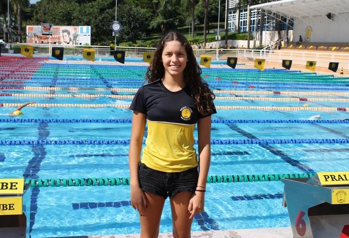 Marcella Queiroz Ribiero; nadadora; Praia Clube; Uberlândia (Foto: Praia Clube/Divulgação)