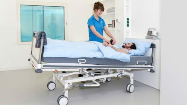 No laboratório Envihab, voluntários são pagos pra ficarem dois meses na cama  (Foto: DLR)