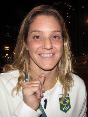 Juliana Veloso na Vila Olímpica (Foto: Felipe Siqueira)