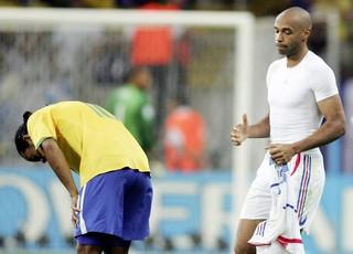 ronaldinho gaucho henry brasil x frança copa do mundo 2006 (Foto: Getty Images)