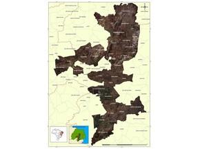 Núcleo de desestificação do Seridó é composto por municípios da Paraíba e Rio Grande do Norte (Foto: Reprodução/INSA)