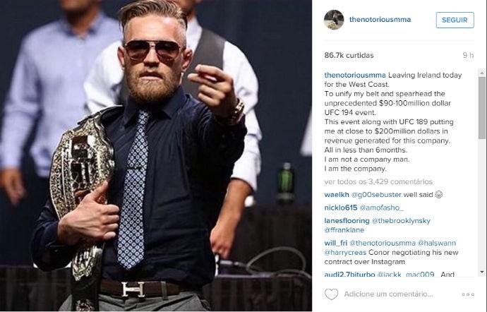 Conor McGregor UFC instagram