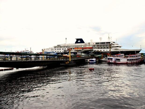 Porto de Manaus ainda aguarda reforma e ampliação (Foto: Adneison Severiano/G1 AM)
