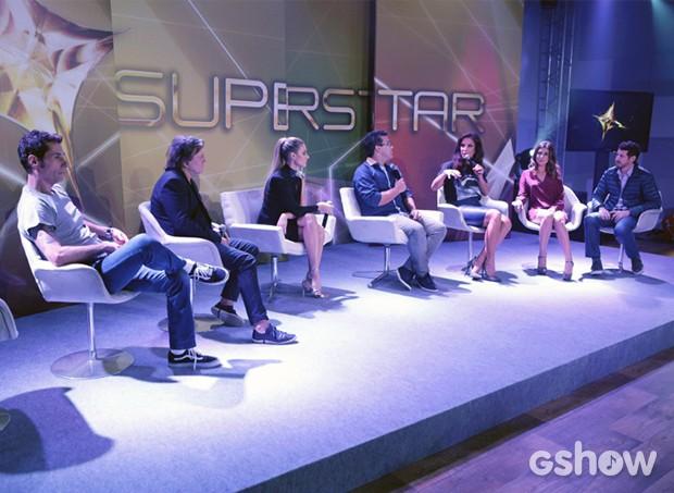 Apresentadores e jurados SuperStar foto Matéria (Foto: Fábio Rocha/ TV Globo)
