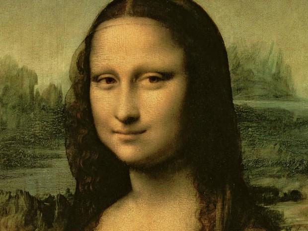 Detalhe do quadro 'Mona Lisa', de Leonardo da Vinci (Foto: BBC)