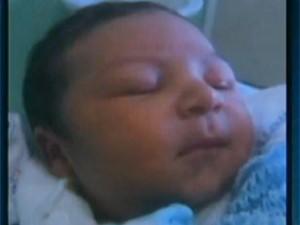 Bebê de 5 dias foi levado por sequestradores (Foto: Reprodução/TV Globo)