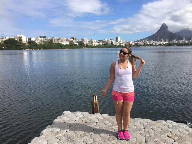 Cacau tem corrido na Lagoa Rodrigo de Freitas  (Foto: Arquivo Pessoal)