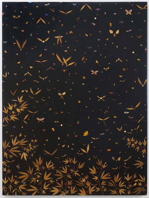 Fred Tomaselli, Esopus Creek Bug Drop, 1996 (Foto: Paul Kasmin Gallery/Divulgação)