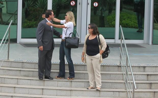 Flávia Alessandra no Forum da Barra da Tijuca (Foto: Delson Silva / Agnews)