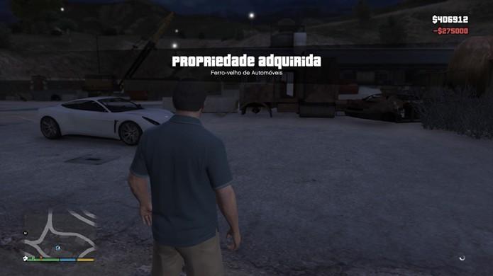 Pronto! Você agora é dono do ferro-velho de automóveis de GTA 5 (Foto: Reprodução/Rafael Monteiro)