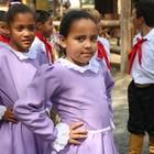 Crianças se apresentam no Acampamento (Rafaella Fraga/G1)