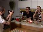 Casal posta vídeos de receitas vegetarianas com tradução em Libras