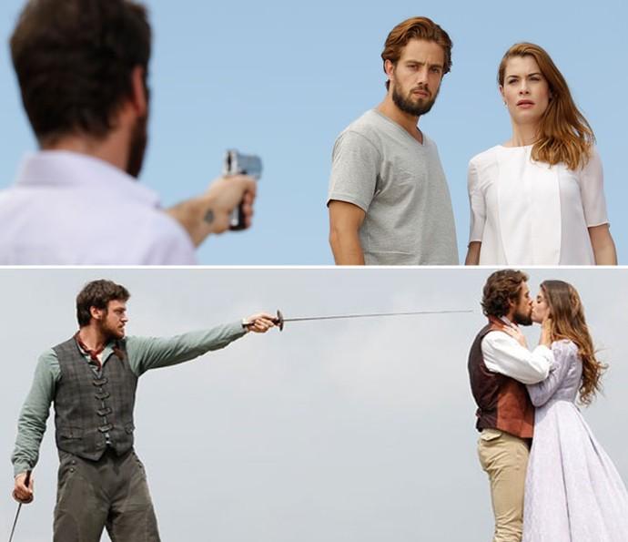 Pedro sempre atrapalhou o romance de Felipe e Lívia ( (Foto: Fábio Rocha / Gshow)