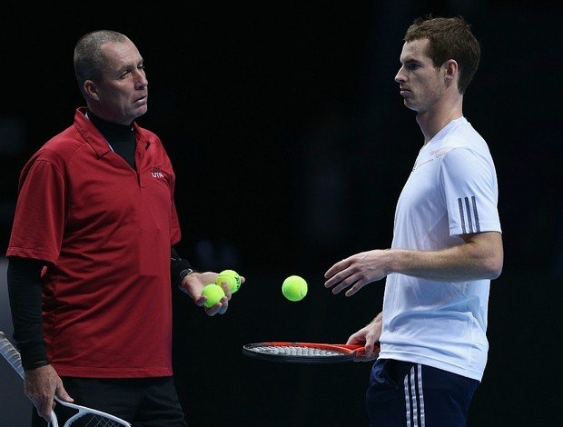 Andy Murray tênis Londres ATP Finals treino Ivan Lendl (Foto: Getty Images)