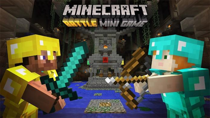 Confira como jogar o minigame de batalha de Minecraft que coloca jogadores uns contra os outros (Foto: Divulgação/Mojang)