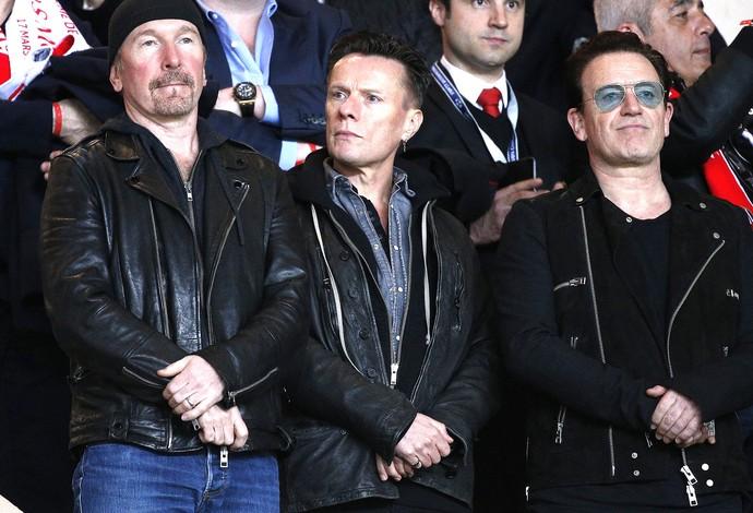 Integrantes U2, Monaco X Arsenal (Foto: Agência EFE)