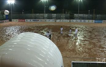 Debaixo de chuva, Copa do Brasil de futebol areia começa em São Luís