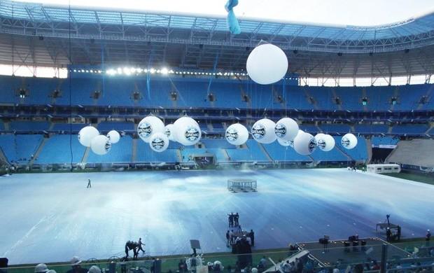 arena inauguração ensaio grêmio (Foto: Bruna Melgarejo/ Arquivo Pessoal)