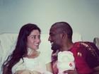 Em hospital, ex-BBB Maria Melilo recebe visita do noivo