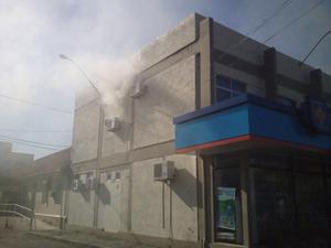 Incêndio no Hospital São Vicente de Paulo em Osório (Foto: Divulgação/Corpo de Bombeiros)