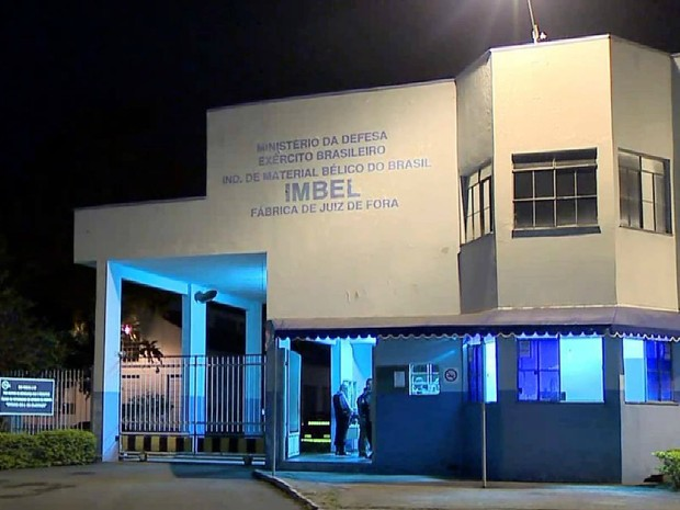 Fábrica da Imbel em Juiz de Fora (Foto: Reprodução/TV Integração)