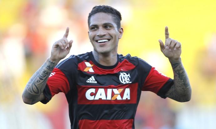 gol de guerrero - flamengo x baovista (Foto: Gilvan Souza - Divulgação, Flamengo)