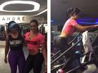 Gracyanne Barbosa pega pesado na academia até no fim de semana