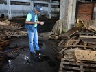 Possíveis criadouros de Aedes são encontrados em barracão ferroviário