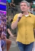 Luciano Huck e Serginho Groisman aparecem na TV com camisas iguais