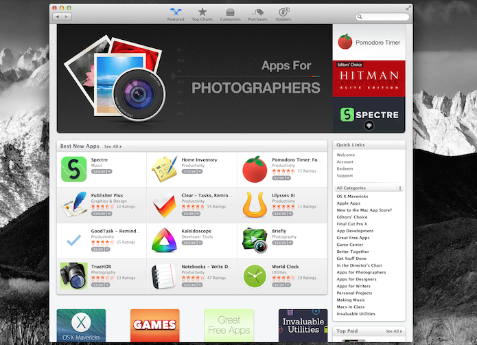 Mac App Store do Mac OS X (Foto: Reprodução/Marvin Costa)