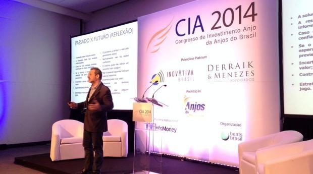 Carlos Miranda, da BR Opportunities, durante o Congresso de Investimento Anjo da Anjos do Brasil (Foto: Divulgação)