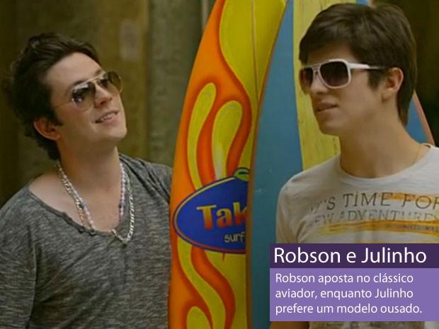 Robson e Julinho (Foto: Amor Eterno Amor/TV Globo)