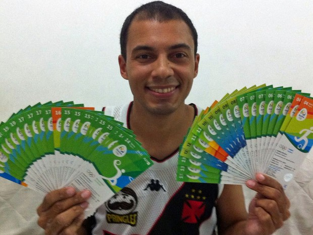 O engenheiro Thiago Moraes se programou para assistir a competições todos os dias da Olimpíada do Rio. (Foto: Thiago Moraes/Arquivo Pessoal)