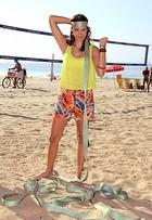 Veja mais fotos de Elea Mercurio, apresentadora da MTV, em manobras no slackline