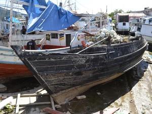 Explosão aconteceu no porto do Igarapé das Mulheres, Zona Leste de Macapá (Foto: John Pacheco/G1)