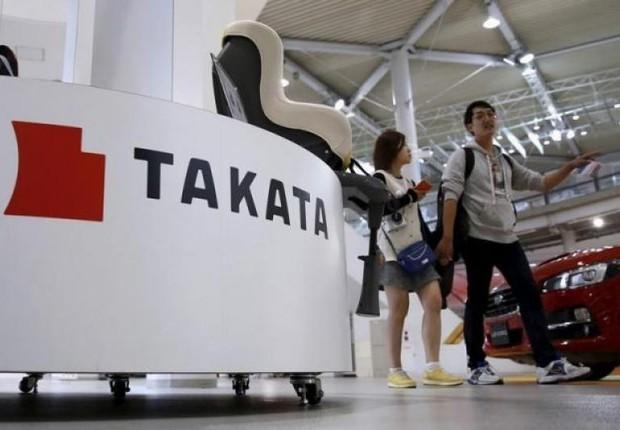 Display da Takata Corporation durante feira de automóveis em Tóquio (Foto: Toru Hanai/Reuters)