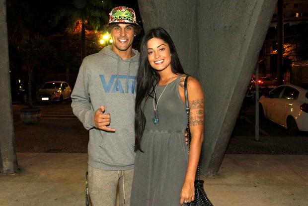 Aline Riscado e Felipe Roque (Foto: Marcos Ferreira / Brazil News)