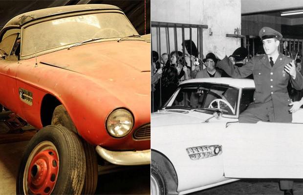 BMW 507 roadster de Elvis passou décadas abandonado em uma garagem (Foto: Divulgação/BMW)