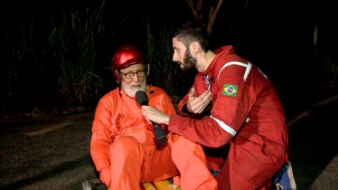 Tebaldi durante entrevista para Diego Araujo (Foto: Divulgação / TV Gazeta ES)
