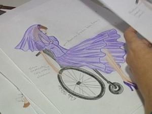 Drieli desenvolve um trabalho voltado à moda inclusiva. (Foto: reprodução/TV Tem)