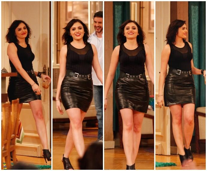 Monica Iozzi em Tomara que Caia (Foto: Artur Meninea/Gshow)