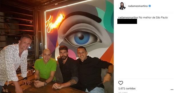 Radamés Martins bloqueia comentários em sua conta no Instagram (Foto: Reprodução/Instagram)
