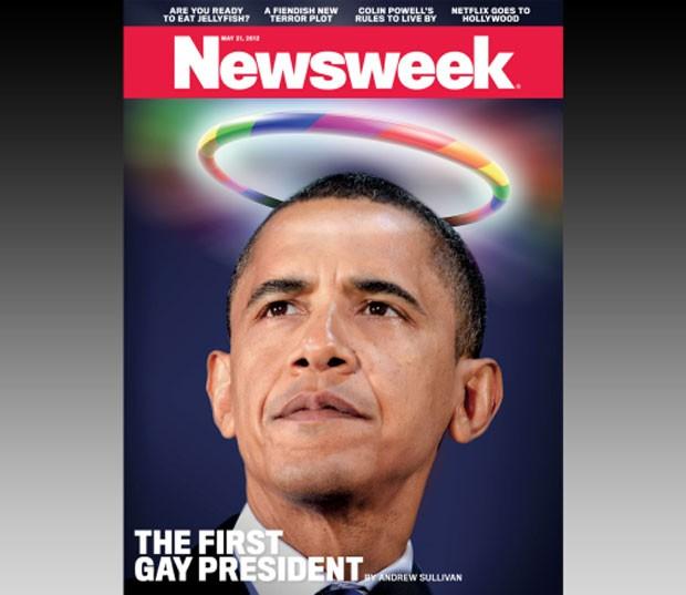 Capa polêmica destaca Obama como 'primeiro presidente gay' (Foto: Reprodução/Newsweek)