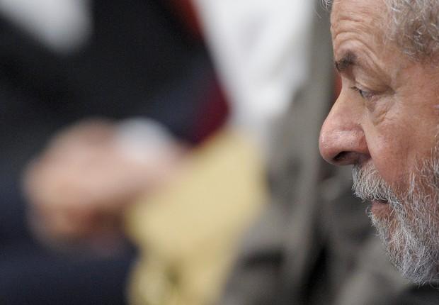 O ex-presidente Luiz Inácio Lula da Silva acompanha julgamento do impeachment de Dilma Rousseff (Foto: Pedro França/Agência Senado)