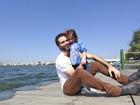 Mouhamed Harfouch posa com a filha para o especial de Dia dos Pais do EGO