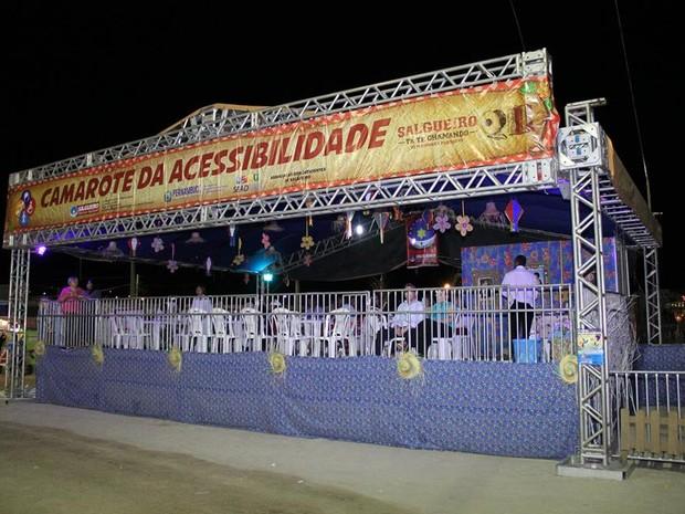 Camarote da Acessibilidade (Foto: Diego Fernandes/Secretaria de Desenvolvimento Social de Salgueiro)
