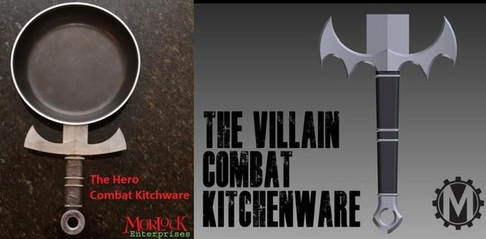 Combat Kitchenware foi criado para você se sentir um herói ou vilão enquanto cozinha (Foto: Divulgação/Kickstarter)